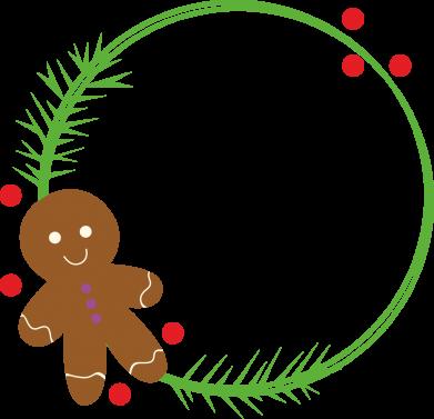 Print Sweatshirt Gingerbread Man Wreath - PrintSalon