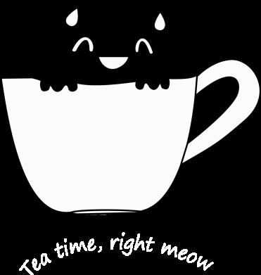 Print Etui na iPhone 5/5S/SE Tea time, right meow - PrintSalon