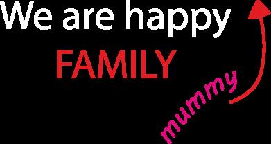 Print Plecak z przednią kieszenią We are happy family. For Mom - PrintSalon