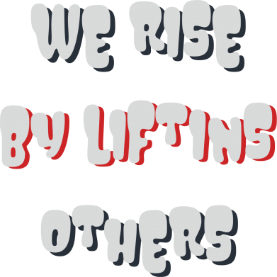 Print Męska bluza z kapturem We rise by liftins others - PrintSalon