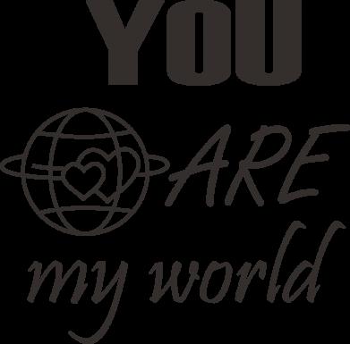 Print Mug 330ml You are my world Earth - PrintSalon