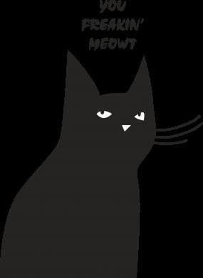 Print Mug 330ml Freakin' meowt - PrintSalon