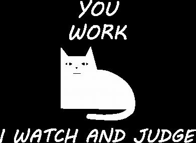 Print Bluza (raglan) You work i watch and judge - PrintSalon