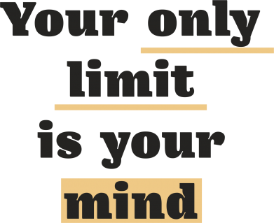 Print Etui na iPhone 11 Pro Max Your only limit is your mind - PrintSalon