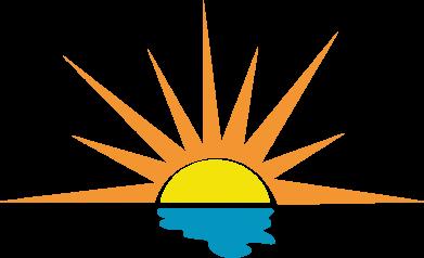 Print Bokserki męskie Sunset sun sea - PrintSalon
