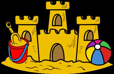 Print Męska bluza z kapturem Zamek z piasku - PrintSalon