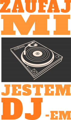Print Damska koszulka V-neck Zaufaj mi  jestem DJ-em. - PrintSalon