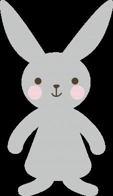 Print Plecak z przednią kieszenią Bunny for her - PrintSalon