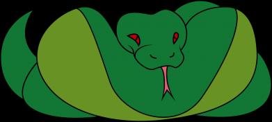 Print Damska koszulka polo Green snake - PrintSalon