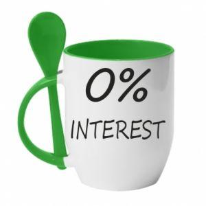 Kubek z ceramiczną łyżeczką 0% interest