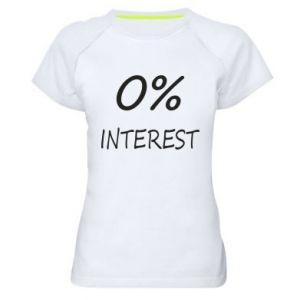 Damska koszulka sportowa 0% interest