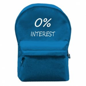 Backpack with front pocket 0% interest