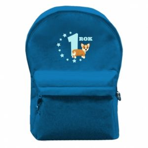 Backpack with front pocket 1 year