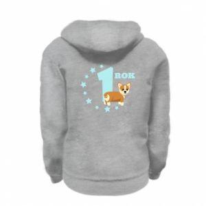 Kid's zipped hoodie % print% 1 year