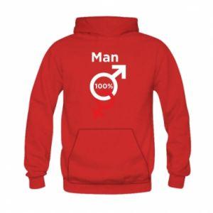 Bluza z kapturem dziecięca 100% Man
