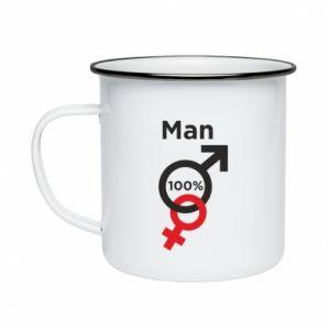 Kubek emaliowany 100% Man