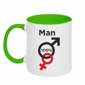 Kubek dwukolorowy 100% Man