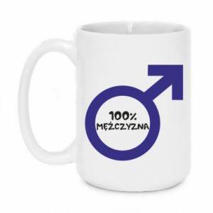 Mug 450ml 100% man! - PrintSalon