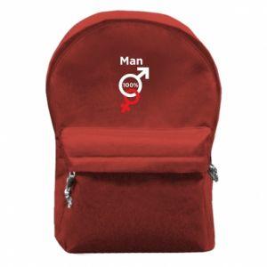 Plecak z przednią kieszenią 100% Man