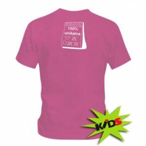 Dziecięcy T-shirt 100% unikalna