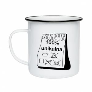 Enameled mug 100% unique, for her - PrintSalon