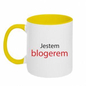 Two-toned mug I'm bloger - PrintSalon