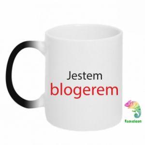 Chameleon mugs I'm bloger - PrintSalon