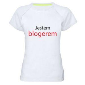 Women's sports t-shirt I'm bloger - PrintSalon