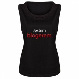 Damska koszulka bez rękawów Jestem blogerem