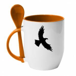 Kubek z ceramiczną łyżeczką Big flying eagle