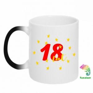 Chameleon mugs 18 years, with stars