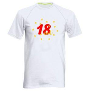 Męska koszulka sportowa 18 lat, z gwiazdami