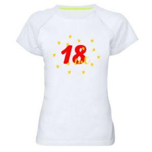 Damska koszulka sportowa 18 lat, z gwiazdami