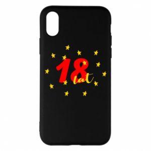 Etui na iPhone X/Xs 18 lat, z gwiazdami