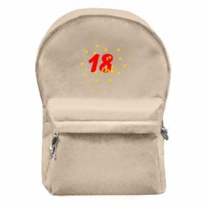Plecak z przednią kieszenią 18 lat, z gwiazdami