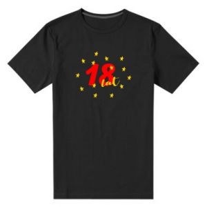 Męska premium koszulka 18 lat, z gwiazdami