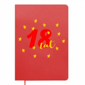 Notepad 18 years, with stars