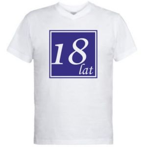 Men's V-neck t-shirt 18 years