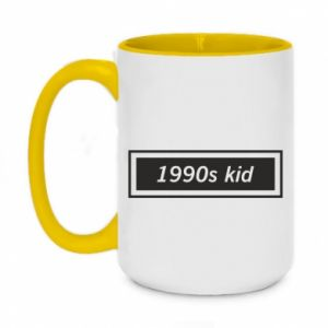 Two-toned mug 450ml 1990s kid
