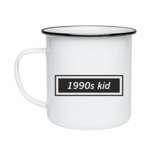 Enameled mug 1990s kid