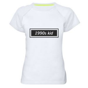 Women's sports t-shirt 1990s kid