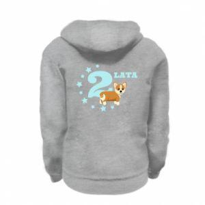 Kid's zipped hoodie % print% 2 yars