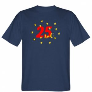 T-shirt 25 years, with stars