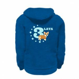 Kid's zipped hoodie % print% 3 yars