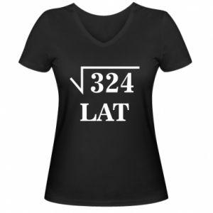 Women's V-neck t-shirt 324 years old