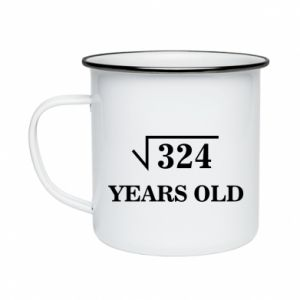 Enameled mug 324 years old