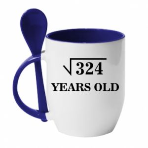Mug with ceramic spoon 324 years old