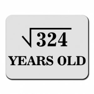 Mouse pad 324 years old