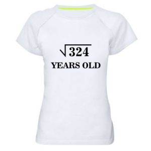 Women's sports t-shirt 324 years old