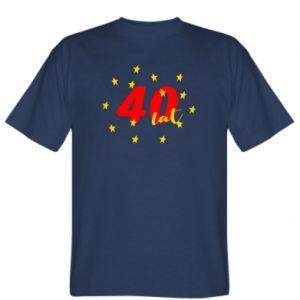 Koszulka 40 lat, z gwiazdami